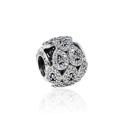 Pandora 潘朵拉 閃耀鑲鋯水滴圓珠 純銀墜飾 串珠