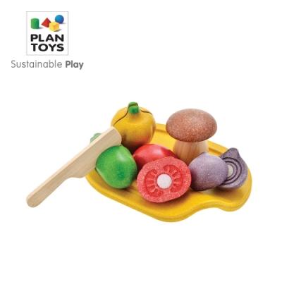 PLANTOYS 天然橡膠木益智玩具 角色扮演系列-小主廚 切切蔬菜盤