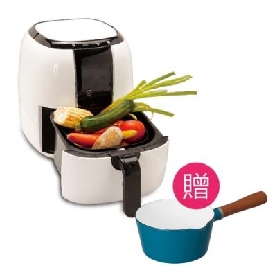 【AF食亭】新世代健康氣炸鍋(贈 CB北歐系列琺瑯原木單柄牛奶鍋-顏色隨機)