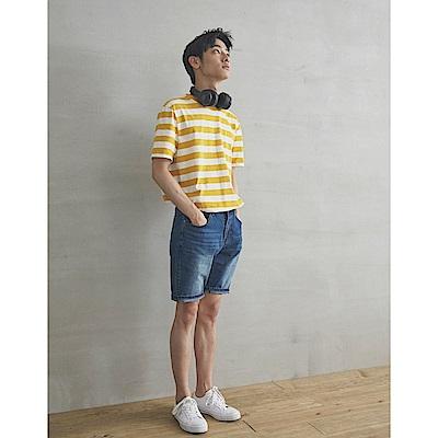 CACO-彈性修身牛仔短褲(兩色)-男【SPA076】