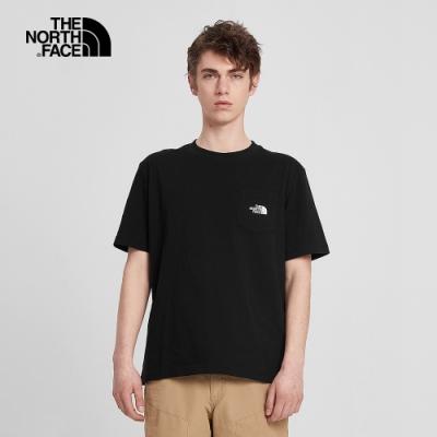 The North Face北面男款黑色吸濕排汗短袖T恤|4NFNJK3