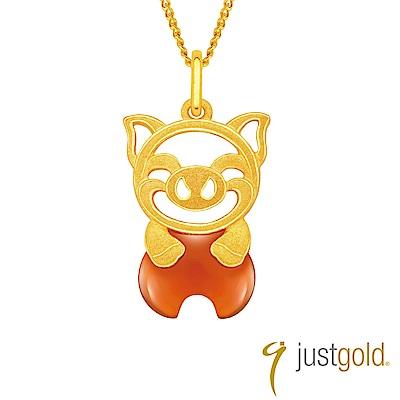鎮金店 Just Gold 吉祥寶寶十二生肖純金系列 黃金墜子-豬