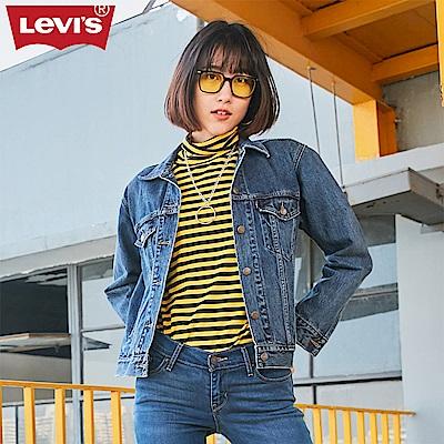 Levis 女款 夾克 Trucker 靛藍洗色