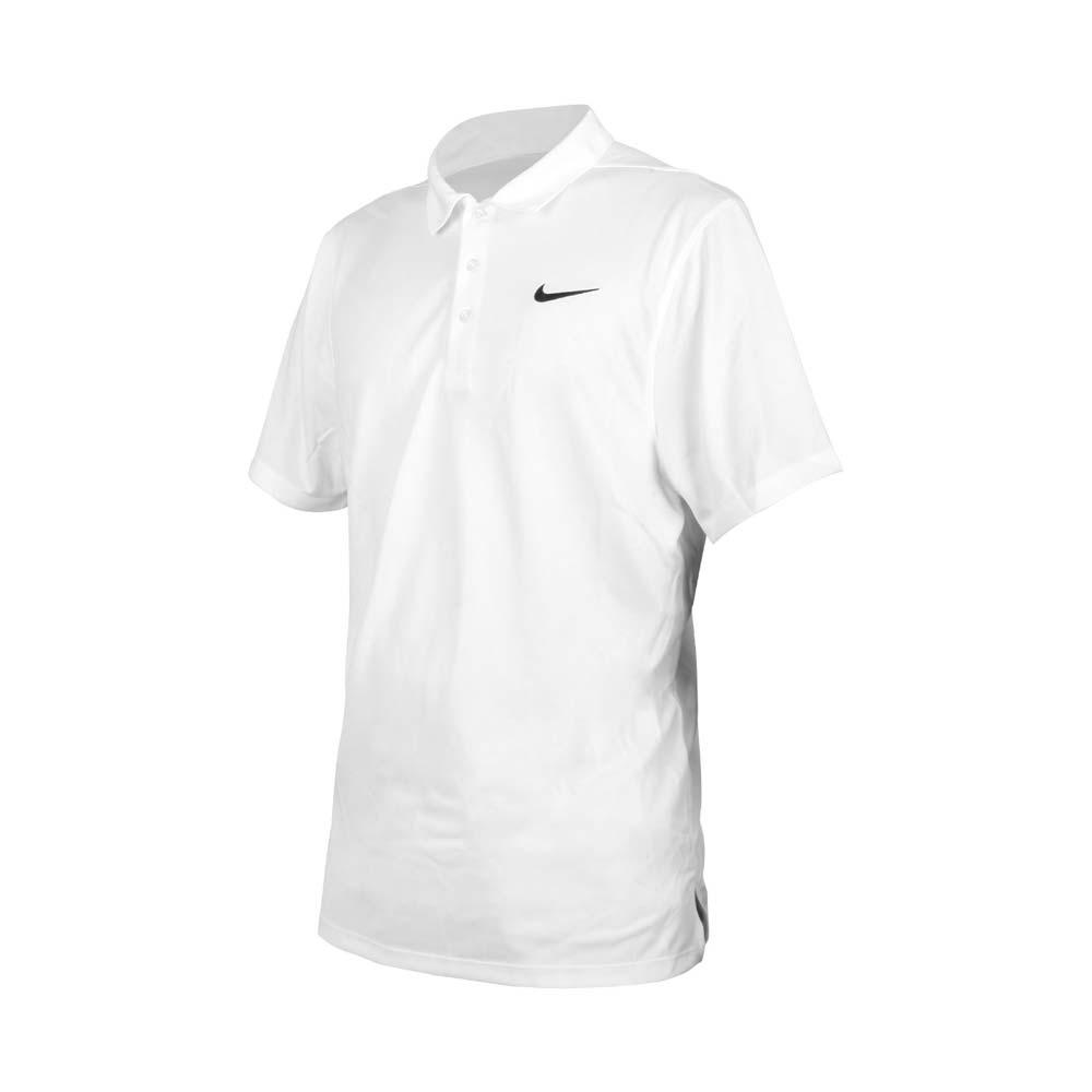NIKE 男短袖POLO衫-運動 休閒 上衣 高爾夫 網球 DRI-FIT APS080-100 白黑