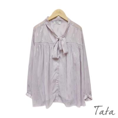 緹花綁帶兩件式雪紡上衣 共二色 TATA-F