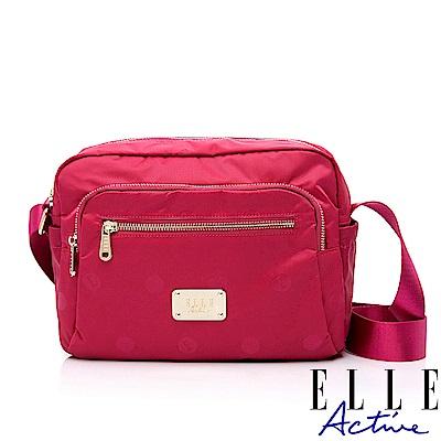 ELLE Active 法式甜心系列-側背包/斜背包-中-桃紅色