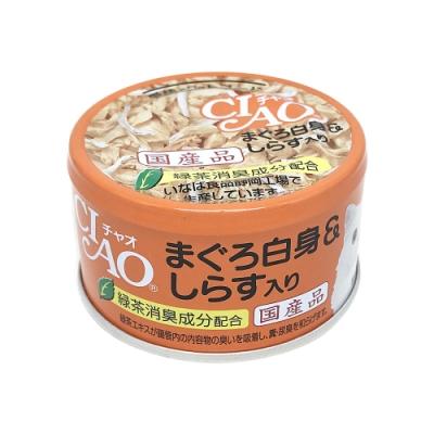 日本 CIAO 旨定罐 A-02 鮪魚&吻仔魚 85g