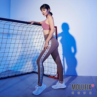 Mollifix 瑪莉菲絲 Pixel Art 極簡側織帶動塑褲 (日暮灰)