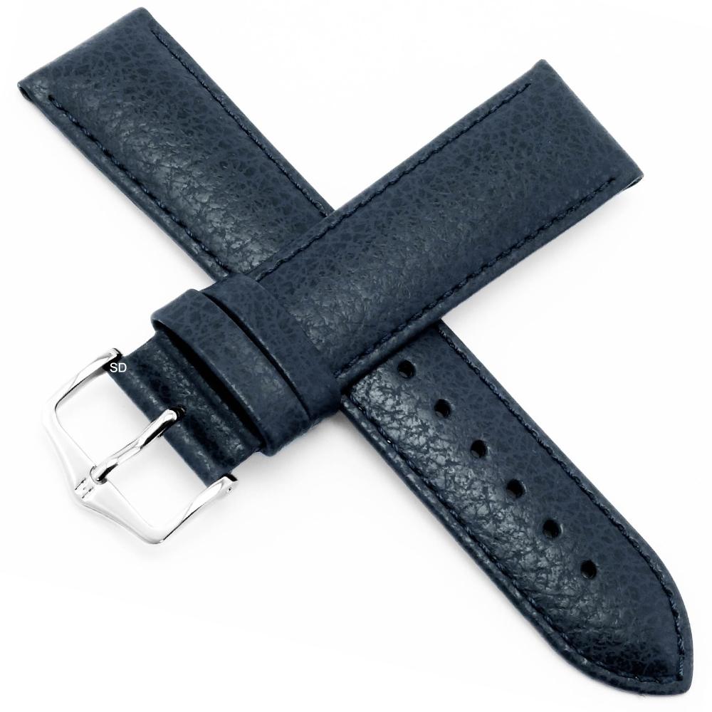 海奕施 HIRSCH Kansas L小牛皮手錶帶-藍
