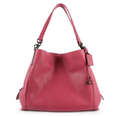 COACH DALTON質感荔枝紋皮革C字吊飾雙層賈姬包-玫瑰粉