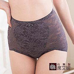 席艾妮SHIANEY 台灣製造(2件組)女性中大尺碼高腰收腹束內褲 刺繡蕾絲花卉款