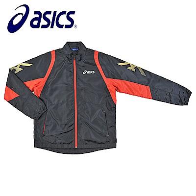 Asics 亞瑟士 男女風衣外套 黑紅 K31402-90