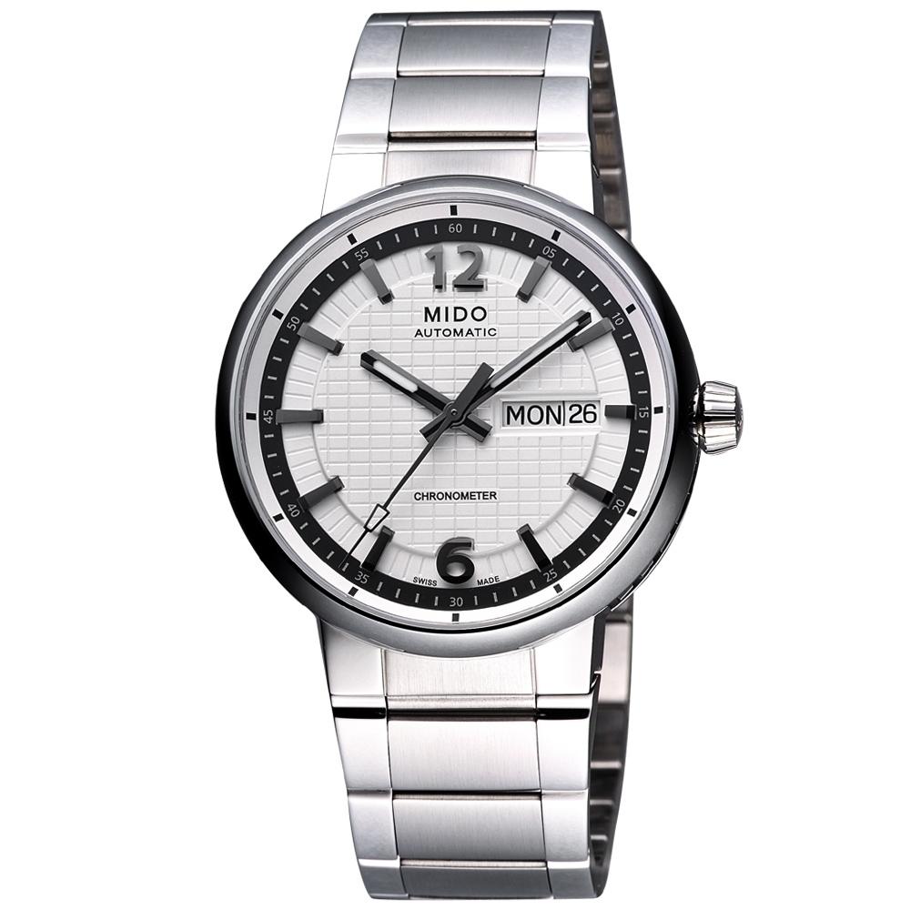 MIDO Great Wall 天文台認證長城系列機械腕錶-白/39mm M0154311103709