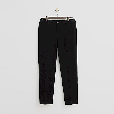 Hang Ten - 男裝 - 純色質感直筒褲 - 黑