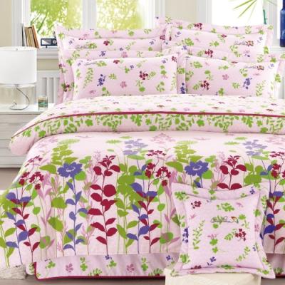 Arnold Palmer雨傘牌 鳥語花香粉-台製40紗精梳棉床包枕套雙人加大三件組