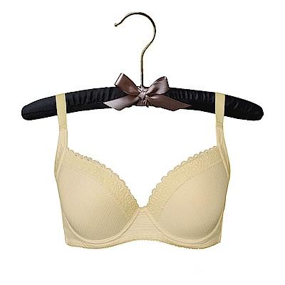 EASY SHOP-清新素体美人 無痕款B-D罩成套內衣(親膚黃)