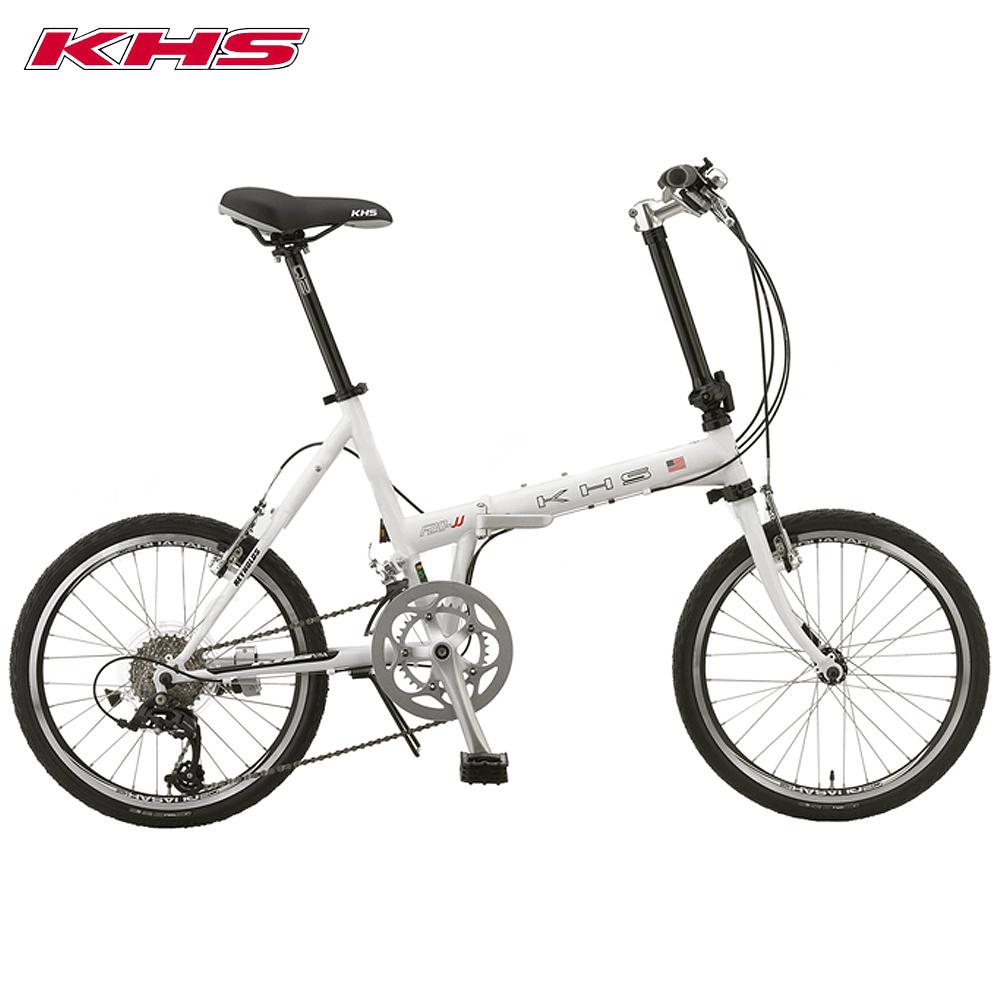KHS功學社 F20-JJ 20吋16速50-34T鉻鉬鋼折疊單車-白