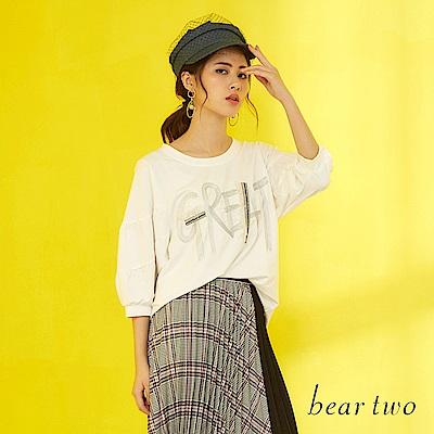 beartwo GREAT電繡澎繡造型T恤(白色)