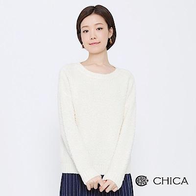 CHICA 棉花糖樂園圈圈毛圓領針織衫(2色)