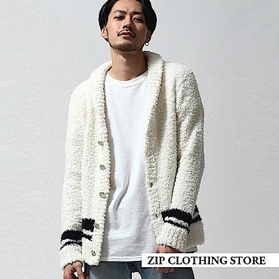 圍巾領開襟外套(4色) ZIP日本男裝