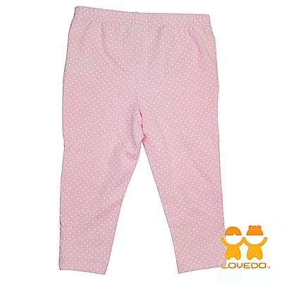 【LOVEDO-艾唯多童裝】粉嫩白點 兒童百搭長褲(粉)