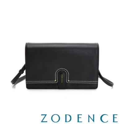 (網路限定)ZODENCE 35周年限定進口牛皮斜背小包 黑
