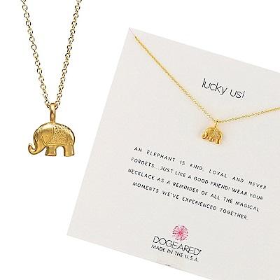 Dogeared 美國品牌 可愛大象 金色許願項鍊