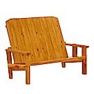 綠活居 佛柯森時尚實木雙人椅/休閒椅-126x63x90cm-免組