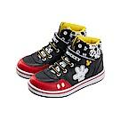 迪士尼 米奇 復古小手造型 高筒球鞋-黑