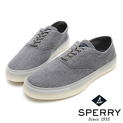 SPERRY 凍感潮流舒適輕量帆布鞋(男/女)-灰色