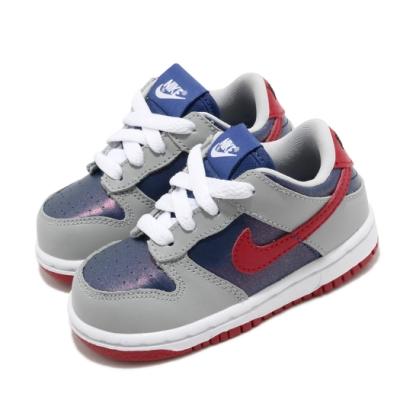 Nike 滑板鞋 Dunk Low SP 運動 童鞋 經典款 復刻 皮革 小童 穿搭 灰 藍 DB4605400
