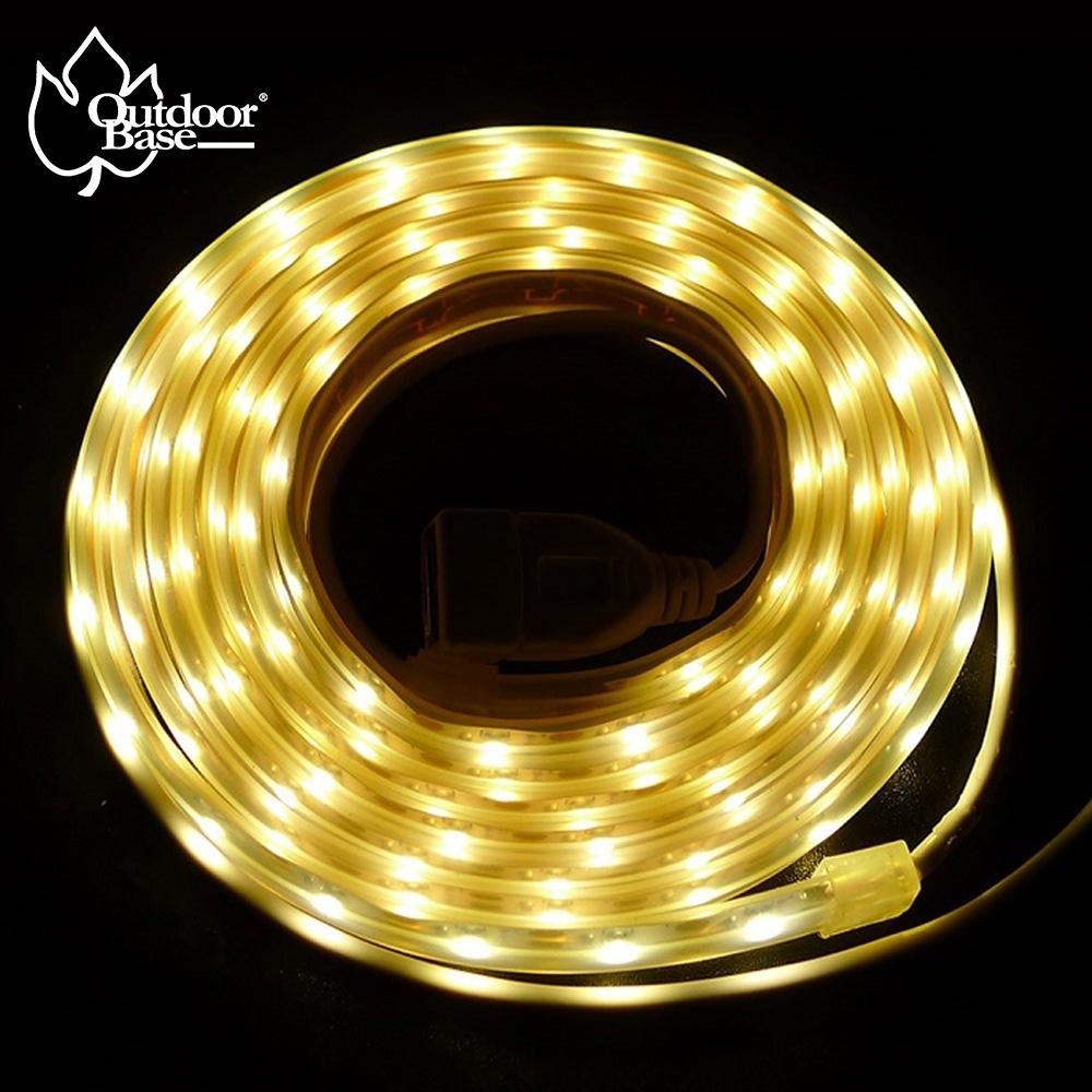【OutdoorBase】帳篷LED燈條防水燈條2M(2色燈泡可選)