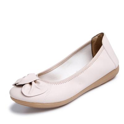 韓國KW美鞋館-簡約休閒大蝴蝶平底鞋-白色