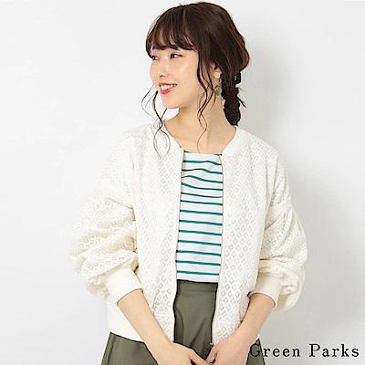 Green Parks MA-1精緻蕾絲夾克外套