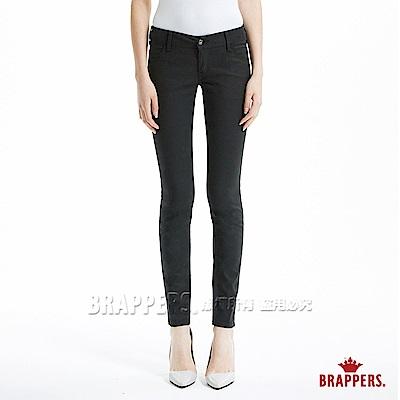 BRAPPERS 女款 LC-Cargo系列-低腰彈性九分窄管褲-黑