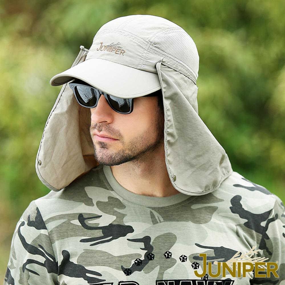 JUNIPER 防曬抗UV防潑水遮陽帽+可拆式披風及面罩