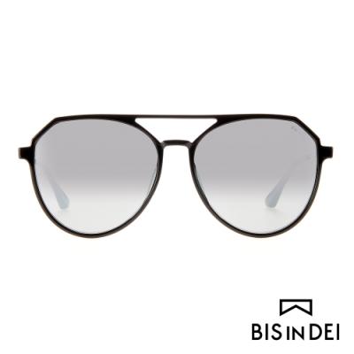 BIS IN DEI 雙槓飛行框太陽眼鏡-黑