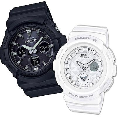 CASIO永晝與黑夜情侶休閒運動對錶(GAS-100B-1A+BGA-195-7A)
