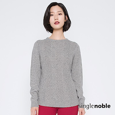 獨身貴族 都會風潮幾何織紋拼接針織衫(2色)