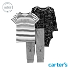 Carter's台灣總代理 黑白狗狗家族3件組套裝