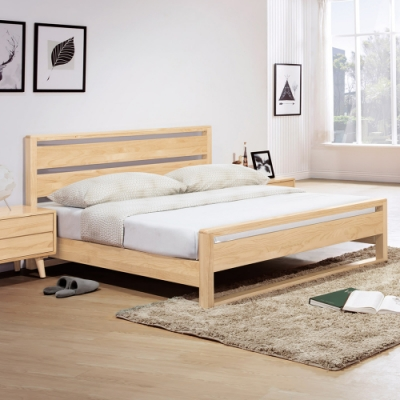 Boden-懷特6尺北歐風雙人加大全實木床架(不含床墊)