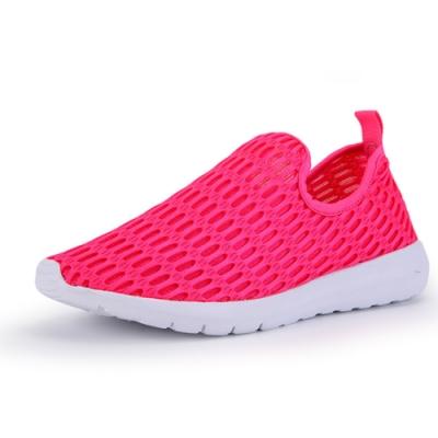 韓國KW美鞋館-飛織輕量網休閒鞋 桃紅