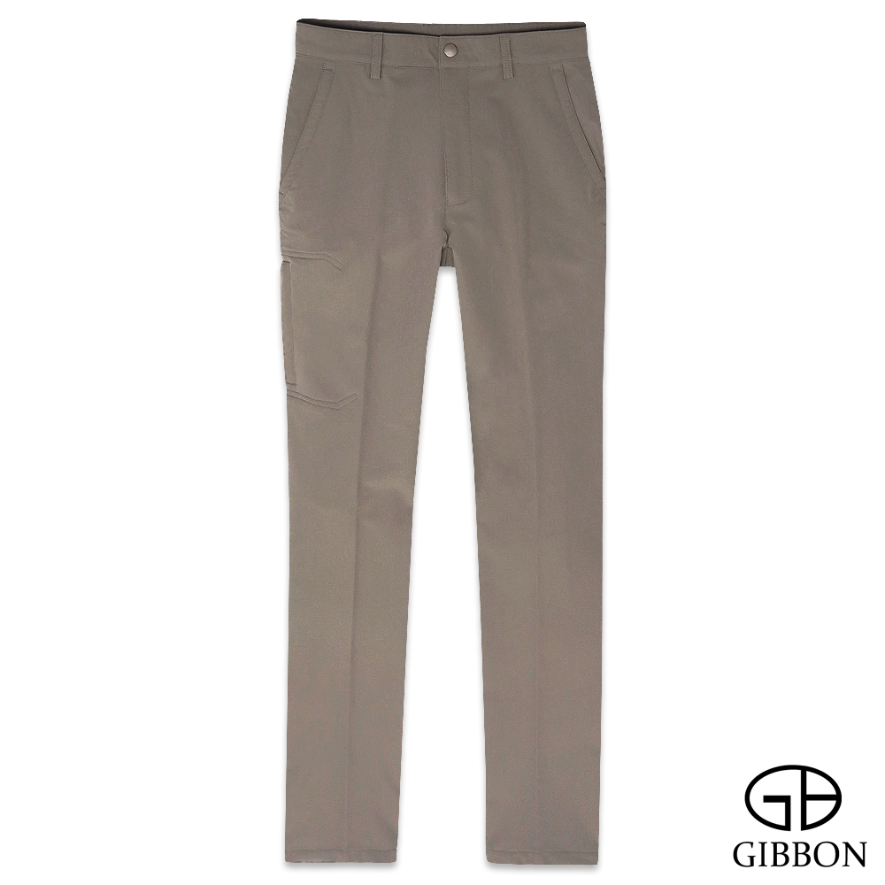 GIBBON 四面彈力保暖吸排格紋長褲-三色