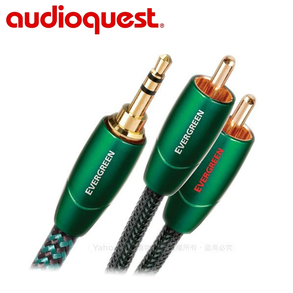 美國 Audioquest Evergreen 訊號線 (3.5mm-RCA) -1.5M