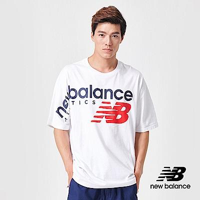 New Balance 短袖T恤_AMT91512WT_男性_白色