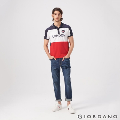 GIORDANO 男裝彈性中腰基本款牛仔褲-93 中藍