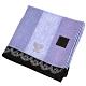 ANNA SUI 蝴蝶刺繡條紋方形棉質帕巾(紫) product thumbnail 1