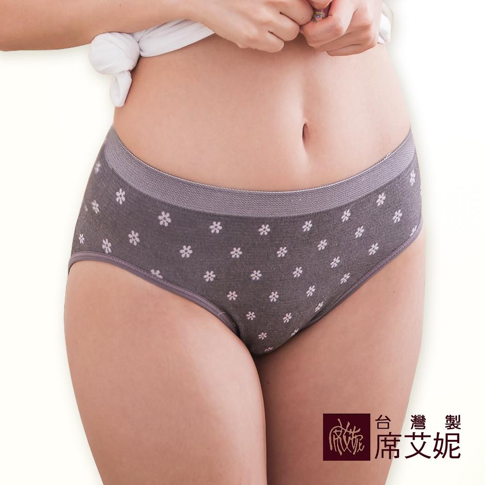 席艾妮SHIANEY 台灣製造(5件組)超彈力舒適內褲 少女小花款 竹炭纖維 抗菌除臭