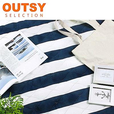 【OUTSY】巨大特厚鋪棉野餐墊/帳篷地墊歐式條紋-白浪滔滔 (隧道帳適用)