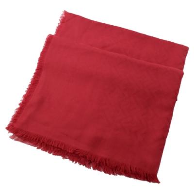 FENDI 經典滿版雙F LOGO圍巾(紅)